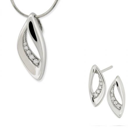 Komplet srebrnej biżuterii 194006-194013