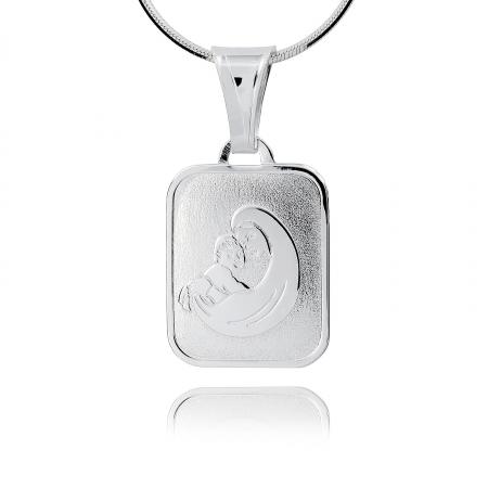 Srebrny medalik 159357