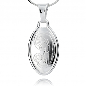 Srebrny medalik 159395