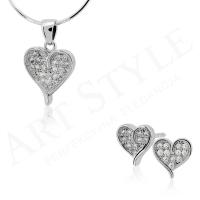 Komplet srebrnej biżuterii 213912-213929