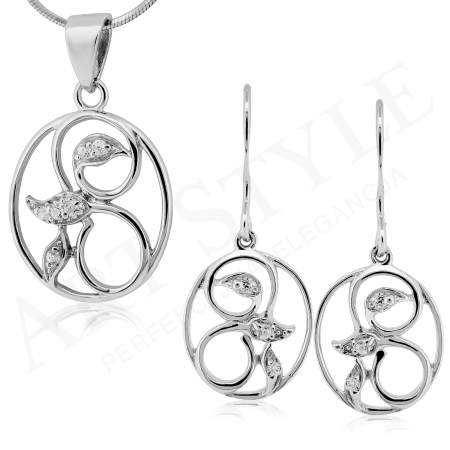 Komplet srebrnej biżuterii 184878-184861