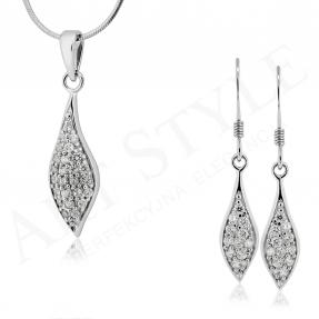 Komplet srebrnej biżuterii 184212-184229