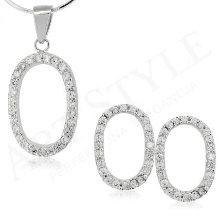 Komplet srebrnej biżuterii 197397-197380