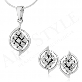 Komplet srebrnej biżuterii 161848-161831