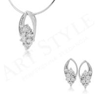 Komplet srebrnej biżuterii 185592-185585
