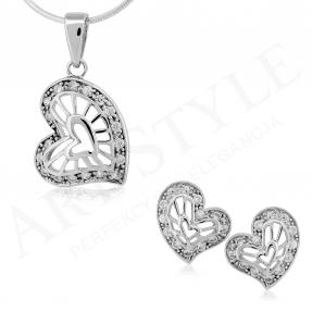 Komplet srebrnej biżuterii 184168-184175