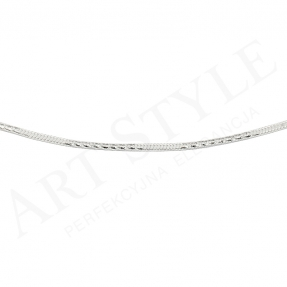 Srebrny Łańcuszek typu Linka 50cm 177641