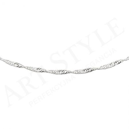 Srebrny Łańcuszek typu Singapur 50cm 203173
