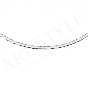 Srebrny Łańcuszek typu Marina 55cm 211727