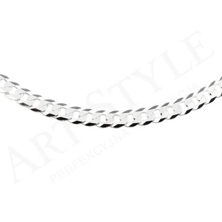 Srebrny Łańcuszek typu Pancerka 55cm 229234