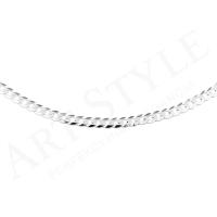 Srebrny Łańcuszek typu Pancerka 60cm 219112