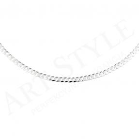 Srebrny Łańcuszek typu Pancerka 50cm 207157