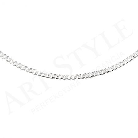 Srebrny Łańcuszek typu Pancerka 55cm 207171