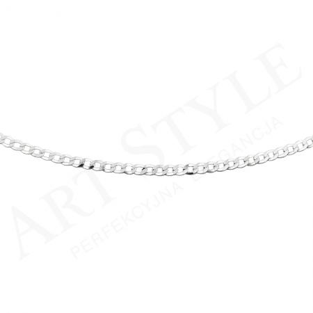Srebrny Łańcuszek typu Pancerka 55cm 207768