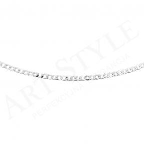 Srebrny Łańcuszek typu Pancerka 50cm 202909