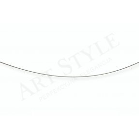 Srebrny Łańcuszek typu Linka Topo 55cm 537056