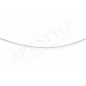 Srebrny Łańcuszek typu Linka Topo 65cm 537070