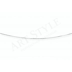 Srebrny Łańcuszek typu Linka ozdobna 45cm 537643