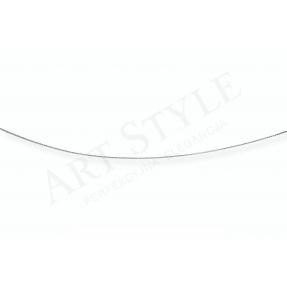 Srebrny Łańcuszek typu Linka ozdobna 45cm 537674