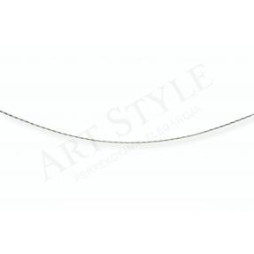 Srebrny Łańcuszek typu Linka ozdobna 45cm 537698