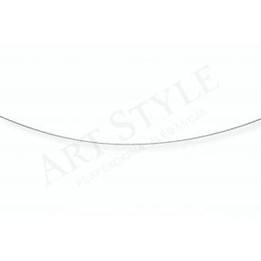 Srebrny Łańcuszek typu Linka ozdobna 45cm 537711