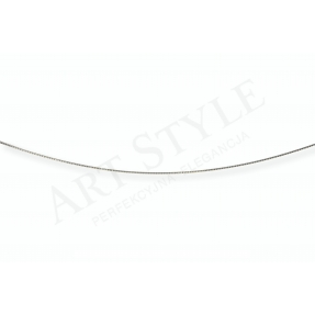 Srebrny Łańcuszek typu Linka ozdobna 45cm 537735